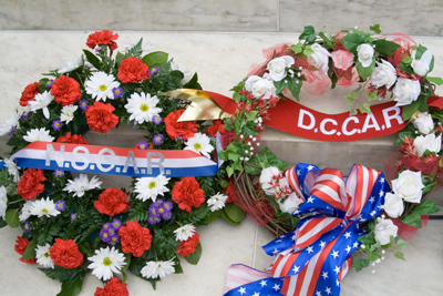 Wreaths at the Thomas Jefferson Memorial